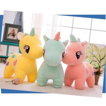 25cm Soft Stuffed toys Kawaii Baby Unicorn Plush Toy Cute Unicornio Plush Doll Licorne peluche Room Decor Toys for Children Gift