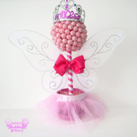 Pink Lollipop Fairy Princess Topiary, Fairy Centerpiece, Lollipop Centerpiece, Candy Centerpiece, Fairy, Baby Shower, Birthday, Centerpiece