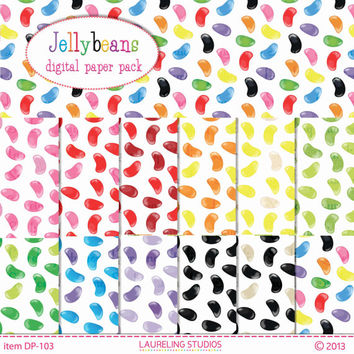 jellybean digital paper, Easter digital paper, candy, digi scrapbook, instant download, DP103