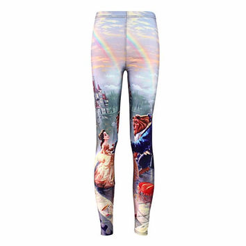 Beauty and the Beast Fitness Leggings