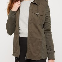 Olive Hooded Anorak | Anorak & Twill Jackets | rue21