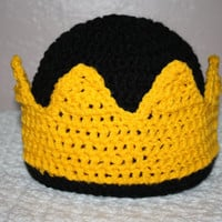 Kings Crown Beanie NB, 0-3 mo or 3-6 mo 6-12 mo  Baby Shower Gift, Infant, Perfect Photo Prop choose other colors!