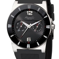 Men's Kenneth Cole New York Silicone Strap Watch, 40mm
