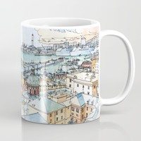 Panoramic of Genoa Mug by Luca Massone