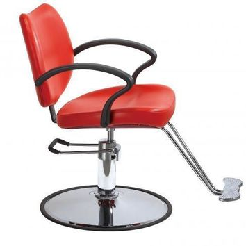 Red Classic Hydraulic Barber Chair Styling Salon Beauty 3W
