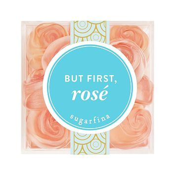 "Sugarfina ""But First, Rose"" Whispering Angel Gummy Roses Single Box"