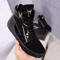 GZ  Men Casual Shoes Boots  fashionable casual leather