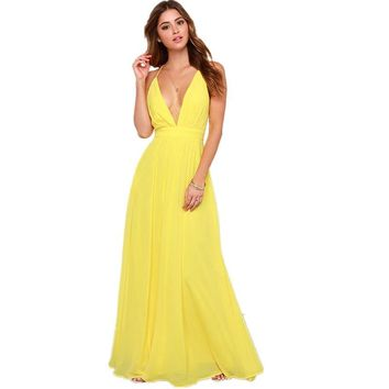 2017 Summer Off Shoulder Sexy Deep V Neck Beach Style Women Dress Strap Backless Maxi Long Evening Party Dresses Vestidos