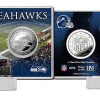 Seattle Seahawks Silver Coin Card - Stadium