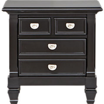 Belmar Black Nightstand