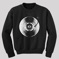 Retro Vinyl Record Player sweatshirt - Unisex music sweatshirt - Available in S to  2XL