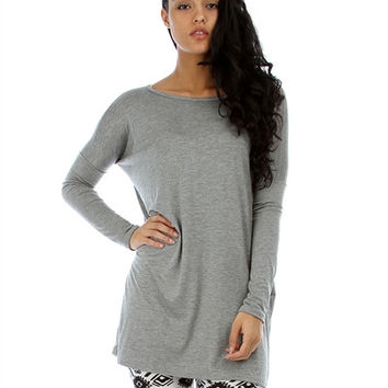 PLUS SIZE LYSS LOO OVERSIZED TUNIC DRESS One Size Fits All