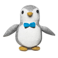 Knit Alpaca Stuffed Baby Penguin
