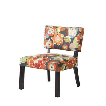 Powell Bright Floral Print Accent Chair