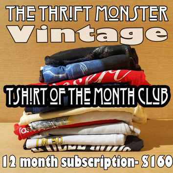 Vintage T-Shirt Of The Month Club - 12 Month Subscription - Year Supply - Unique Gift Ideas