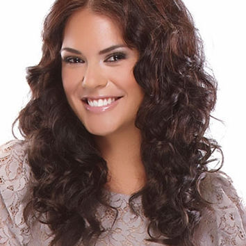 "22"" Long Curly Layered Synthetic Wigs for Women Brown"
