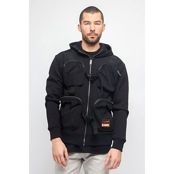 Utility Pocket Zip-Up Hooded Jacket