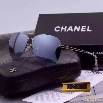 Original Chanel Pilot Fall Sunglasses Frameless 621110 - 05