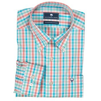 Palmetto Check Button Down in Havana by The Southern Shirt Co..