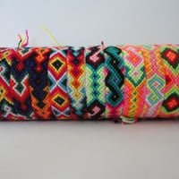 10 Peruvian Wool Friendship Bracelets Handmade Ethnic Mixed Models New Folck Art Peru