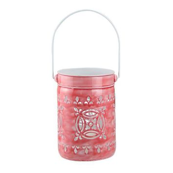ONETOW 7.5' L'Eau de Fleur Rose Pink Cut-Out Votive Candle Lantern