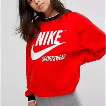 NIKE Fashion Casual Long Sleeve Sport Top Sweater Pullover Sweatshirt I