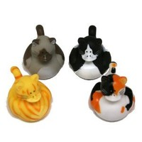 Vinyl Cat Rubber Duckies, Dozen