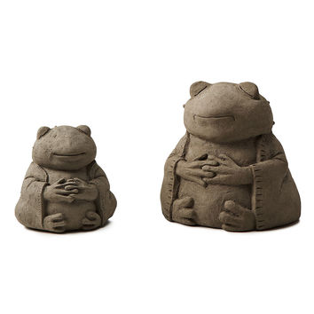 Zen Frog Garden Sculpture | zen garden, praying sculpture