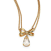 Kate Spade New York - Tied Up Bow Drop Pendant Necklace - Saks Fifth Avenue Mobile