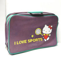 RARE 1976 Sanrio Hello Kitty Suitcase | I Love Sports | 70s vintage Case