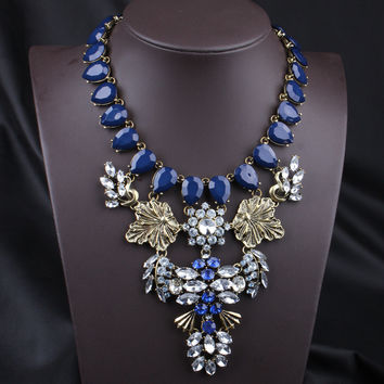 Gift Stylish Jewelry New Arrival Shiny Accessory Alloy Diamonds Handcrafts Strong Character Necklace [6057615041]