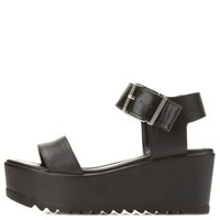 Lug Sole Flatform Wedge Sandal by Charlotte Russe