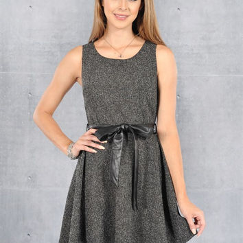 Sleeveless Swing Dress - Black