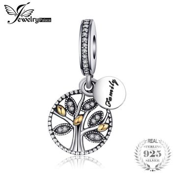 Jewelrypalace 925 Sterling Silver Family Tree Cubic Zirconia Charm Bracelets Gifts For Women Anniversary Gifts Fashion Jewelry