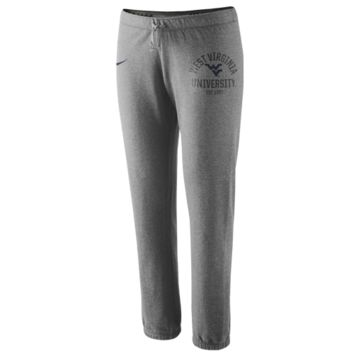 Nike West Virginia Mountaineers Ladies Rally Fleece Pants - Ash