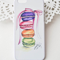 Macarons Iphone Case, Iphone 6 case , Iphone 5 case, Iphone 4 case, custom iphone cover
