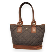 Burberry Denim Quilted Tote Bag
