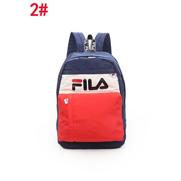 FILA Newest Summer Women Men Book Bag School Bag Backpack Travel Bag 2#