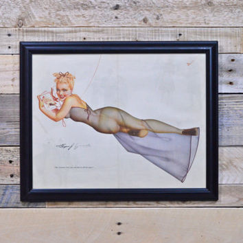 Vintage Pinup Girl Art, Original Petty For Esquire, Vintage Petty Girl