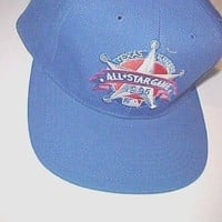 Texas Rangers 1995 All Star Game MLB Blue Wool Baseball Cap Hat 1 Size New NWT