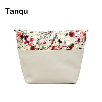 TANQU Classic Mini Flower Combined solid PU Leather Inner Pocket Lining Waterproof Insert for Obag EVA O BAG Women Handbag