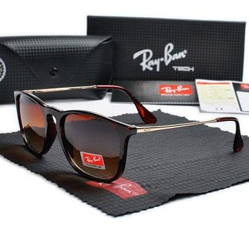 Rayban-T626 red Frame brown Lens Sunglasses