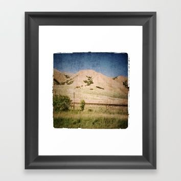 Utah mountains2 Framed Art Print by Jessica Ivy