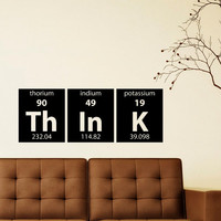 Periodic Table Wall Decals Think Elements Lettering Home Decor Office, Decals for Childrens Rooms M011