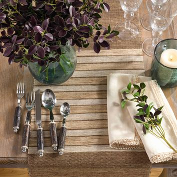 Rustic Stripe Table Runner | 72-Inch
