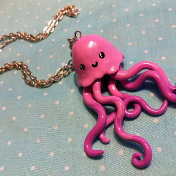 Jellyfish Necklace by KiIIerCupcake on Etsy