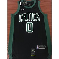 Boston Celtics #0 Jayson Tatum Black/Green Swingman Jersey