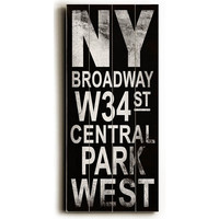 NY Broadway Wood Sign, Signs