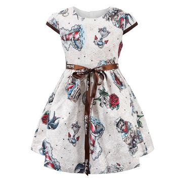 ChildDkivy 3-12 Years Toddler Girls Flower Princess Dresses Kids Christmas Party Dress for Girls Children Autumn Clothes
