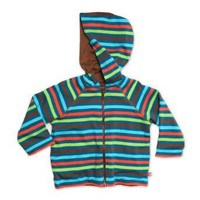 ZUTANO Boys 2-7 5 Color Stripe Pagoda Reversible Zip Hoodie $39.95